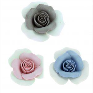 Rose bicolore ceramica