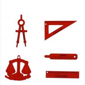Applicazioni strumenti legno rosse
