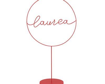 Maxi cerchio Laurea rosso