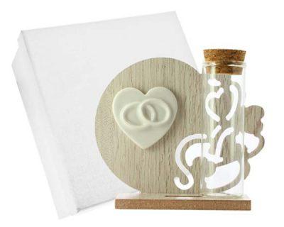 Icona legno cuore Fedi